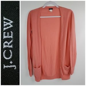 J. CREW Cotton Long Cardigan Like New